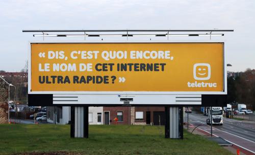 À Bruxelles, une campagne étonnante de TBWA et Teletruc… Euh, Telebidule… Telemachin ?