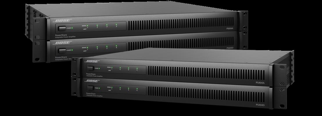 Disponibles los nuevos amplificadores PowerShare de Bose Profesional con tecnología de conectividad Dante