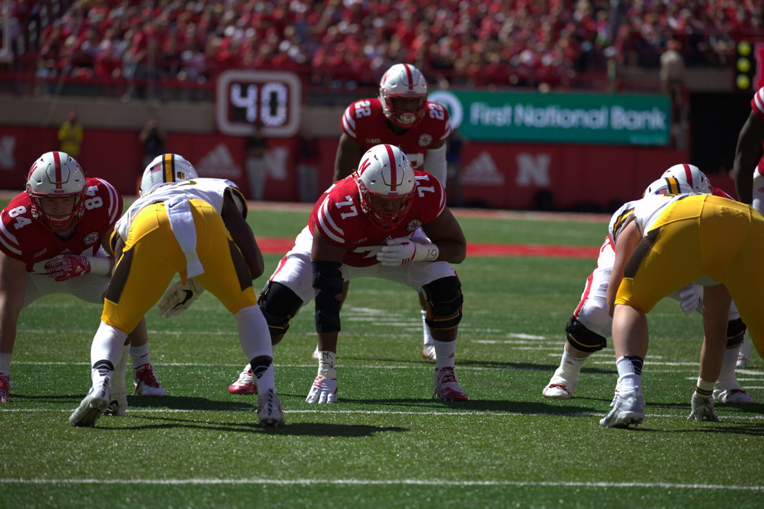 No. 5 OL David Knevel, Nebraska (Photo Credit: University of Nebraska)