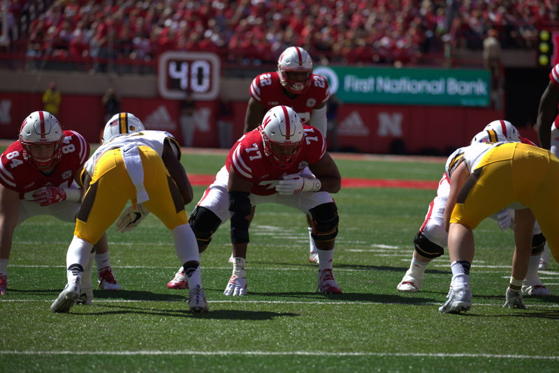 No. 1 OL David Knevel Nebraska (Photo Credit: University of Nebraska)