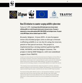 New EU initiative to counter surging wildlife cybercrime