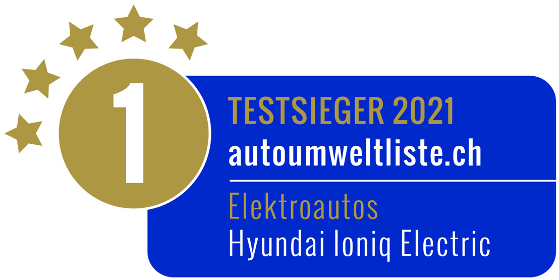 Hyundai IONIQ Electric auf Platz 1 der VCS Auto-Umweltliste 2021, KONA Electric auf Platz 3