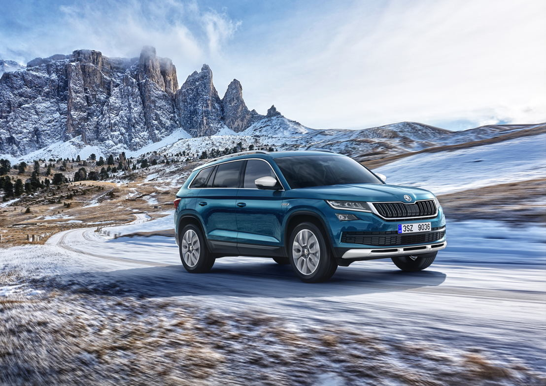 The Czech car manufacturer is continuing its campaign in the SUV segment with the new ŠKODA KODIAQ SCOUT model variant. The ŠKODA KODIAQ SCOUT comes equipped with all-wheel drive as standard and emphasises its off-road capabilities both visually and through its technological features.