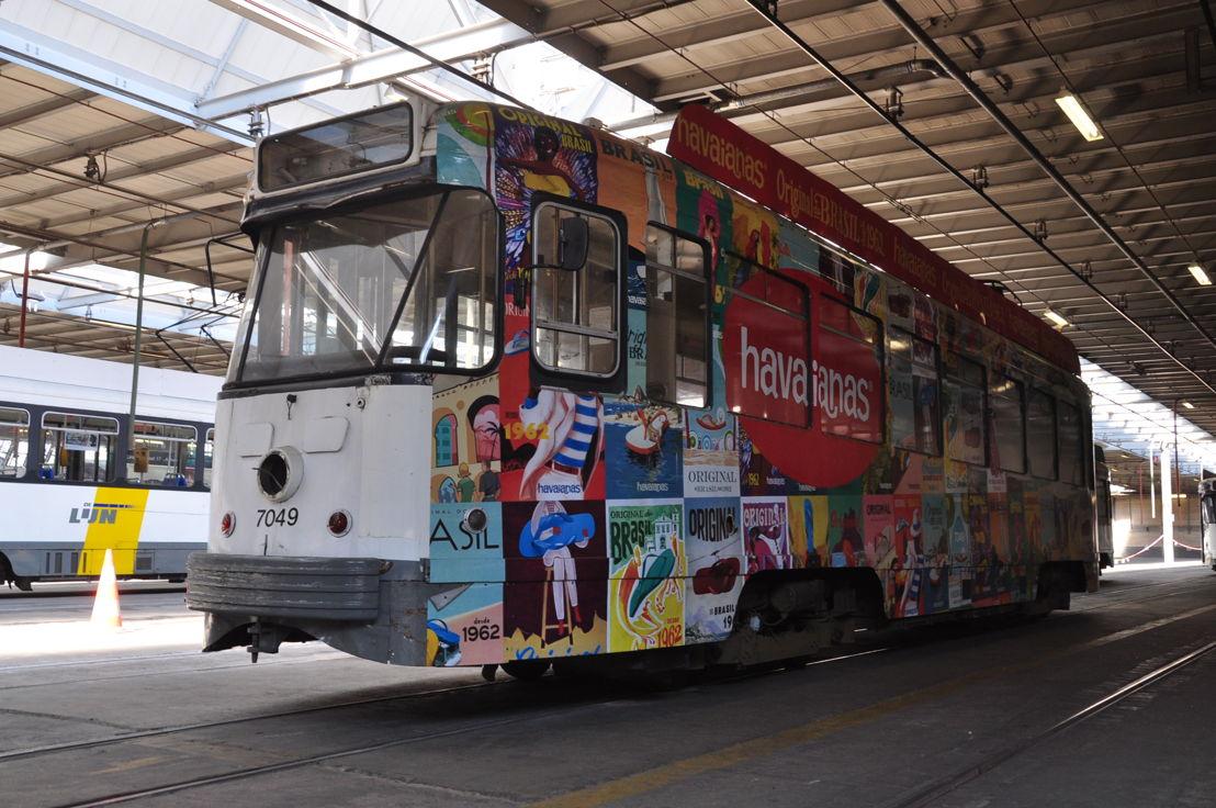 Een van de 2 geveilde PCC-trams.