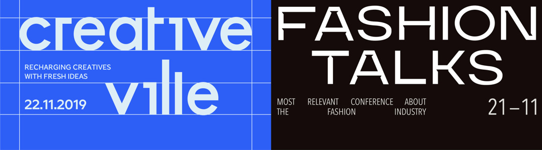 Flanders DC organiseert dit najaar 2 conferenties: Fashion Talks & Creative Ville