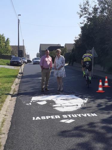 Street art op hellingen WK Wielrennen-finale