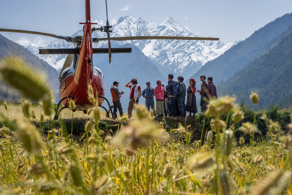 System identifier<br/>: MSF146166<br/>Title<br/>: MSF Response to Nepal Earthquake<br/>Photographer / cameraman<br/>: Brian Sokol<br/>Countries:<br/>Nepal<br/>Description<br/>: Gorkha District, Nepal on May 7 2015.<br/>On 25 April a magnitude 7.8 earthquake killed more than 8,000 people and destroyed massive<br/>amounts of property, including numerous temples that were on the list of UNESCO World Heritage<br/>Sites.