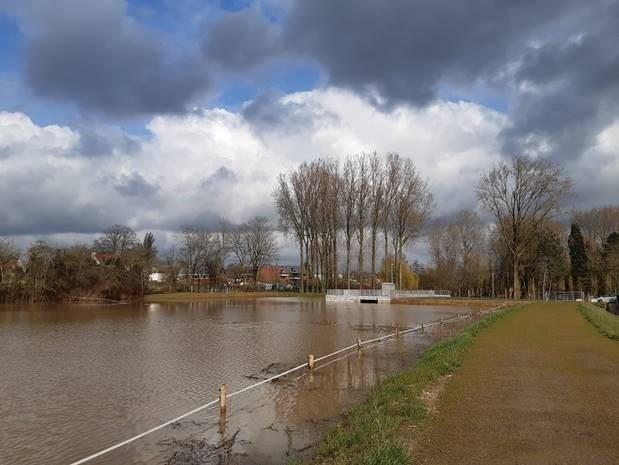 Nieuwe bufferbekken op de Molenbeek in Erpe-Mere bewijst zijn nut