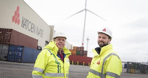 Technische primeur voor windenergie bij Katoen Natie