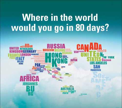 Once-in-a-lifetime prize to be won as public invited to 'Travel the World in 80 Days with Cathay Pacific'