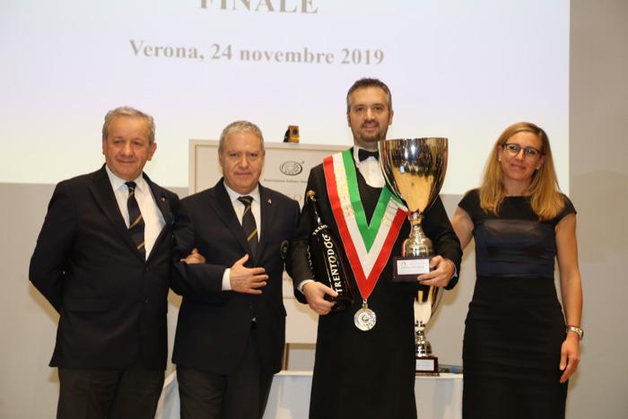 È Valentino Tesi il Miglior Sommelier d'Italia Associazione Italiana Sommelier 2019 Premio Trentodoc