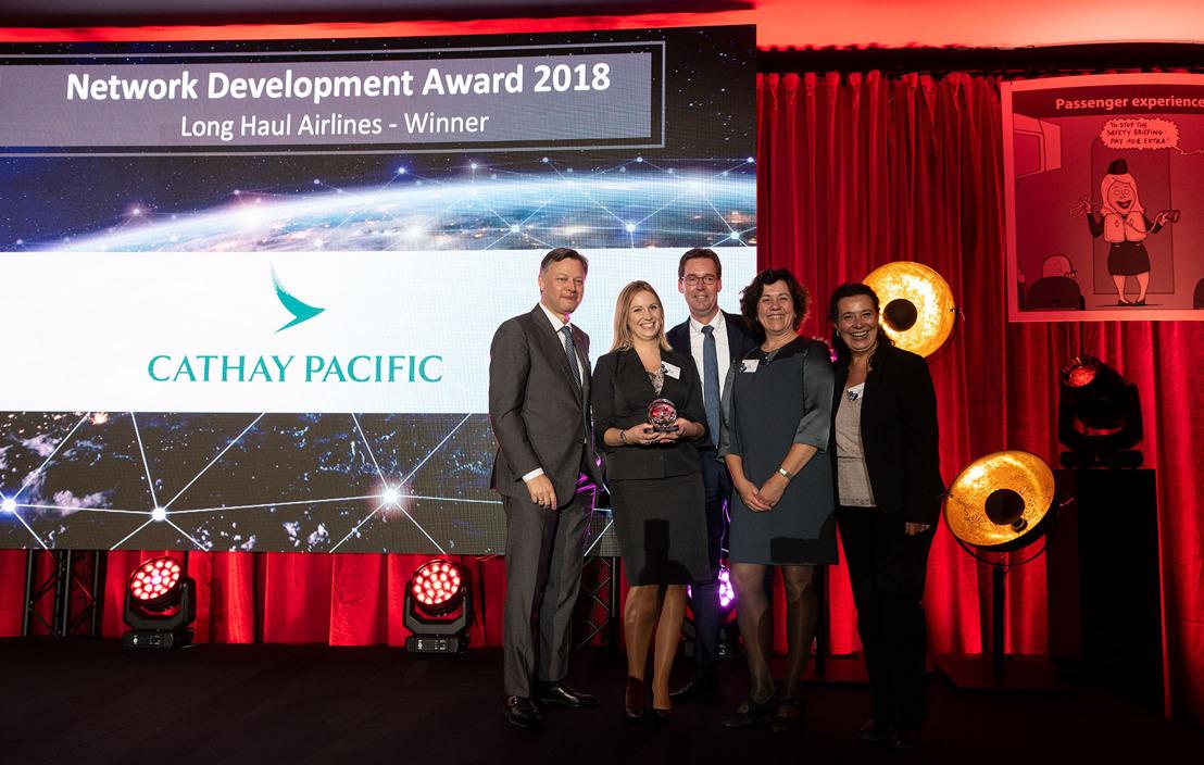 Cathay Pacific wins Longhaul Network Development Award 2018