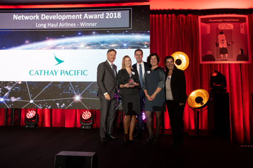 Cathay Pacific wins Longhaul Network Development Award 2018