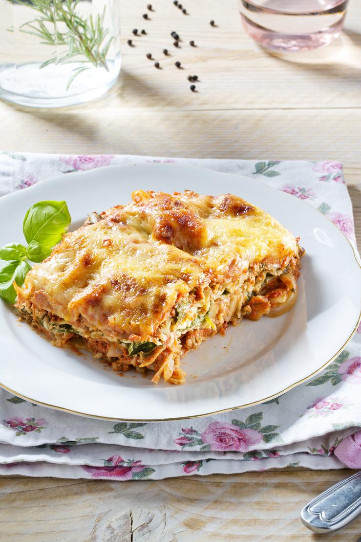Lasagne met lamsgehakt en koriander