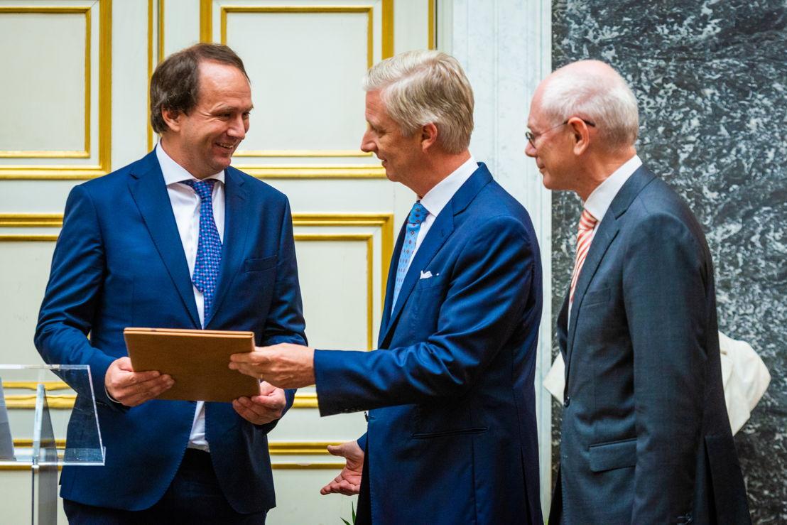 Frank Verstraete, Koning Philip, Herman Van Rompuy ©Dann