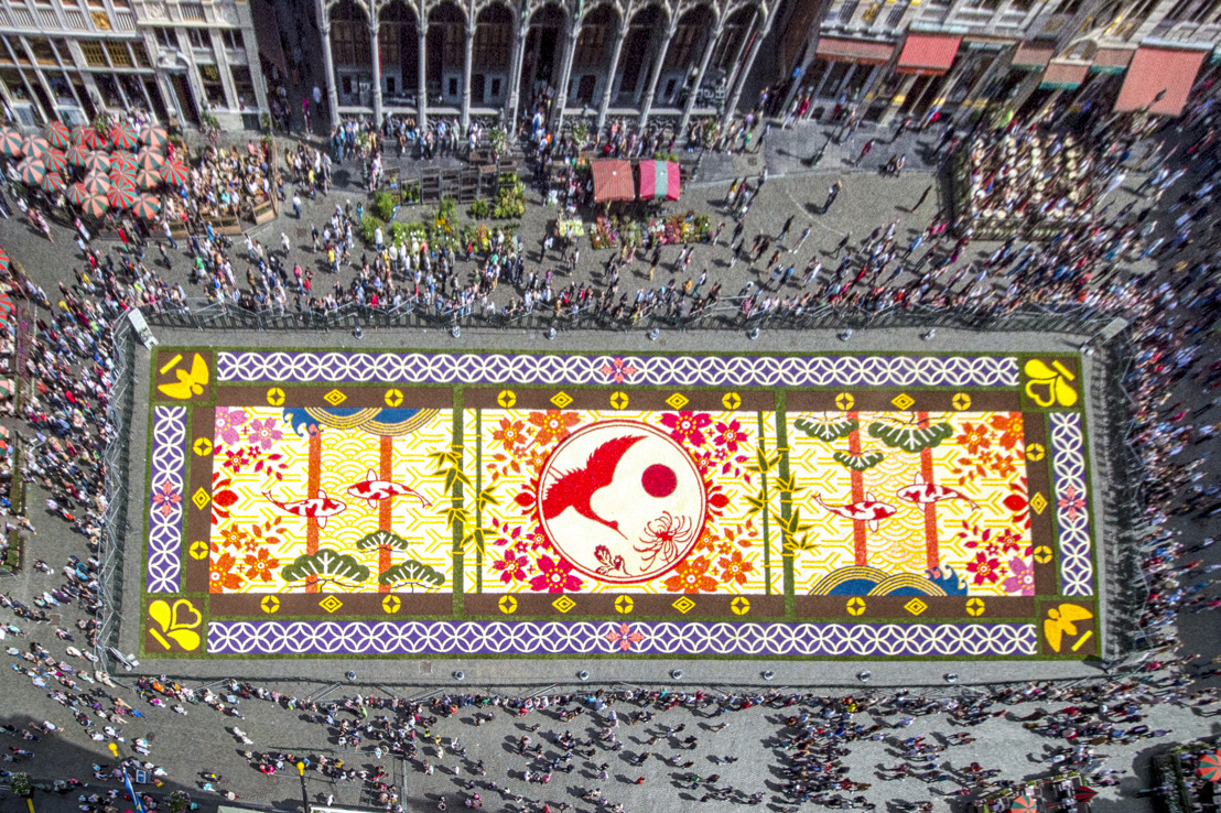 20th Flower Carpet blooms in Brussels' Grand Place