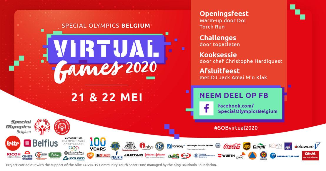 Persbericht: Special Olympics Belgium organiseert eerste Virtual Games op 21 en 22 mei
