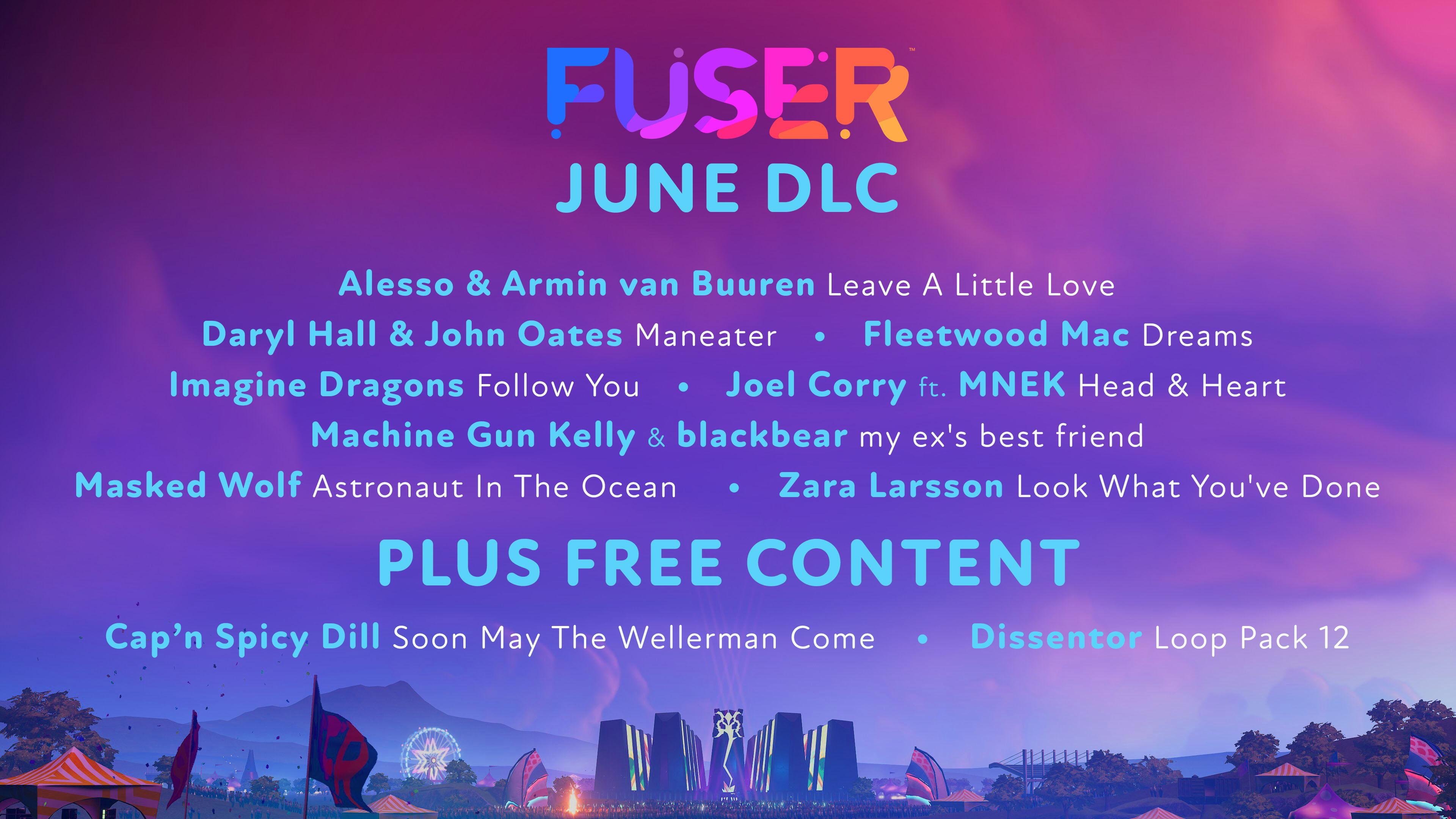 Neuf nouvelles chansons viennent étayer le catalogue de FUSER au mois de juin, accompagnées d'une boucle mélodique pour le moins énergique : le Dissentor Loop Pack.