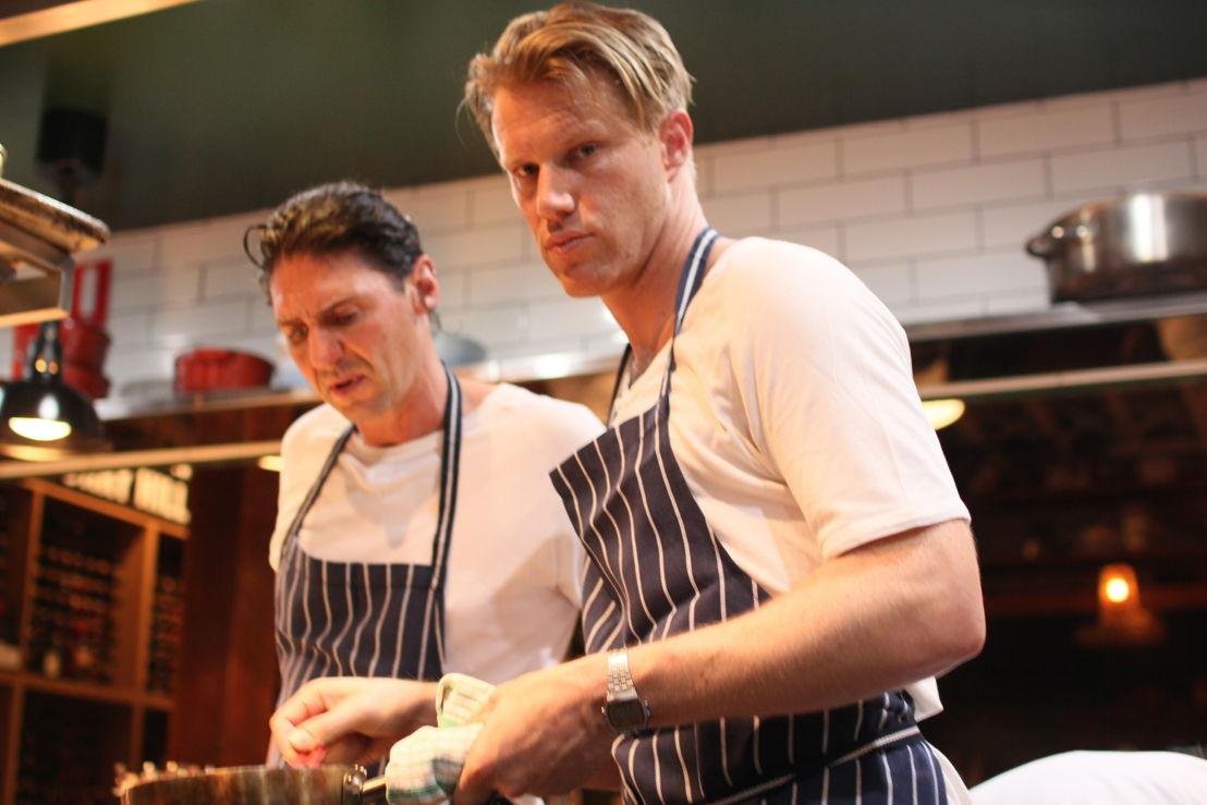Colin Fassnidge teaching Tom Tilley