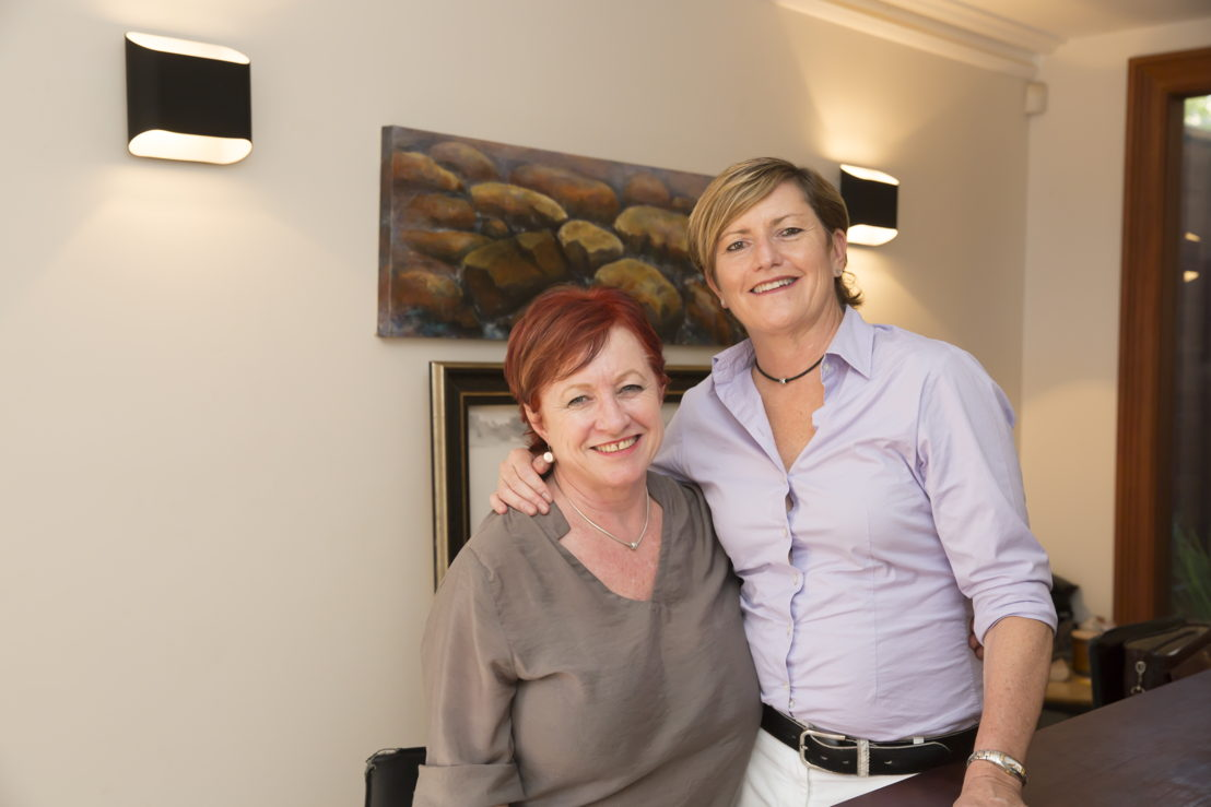 Christine Forster and her partner of ten years, Virginia Flitcroft<br/>Photo credit- Brent Wilson