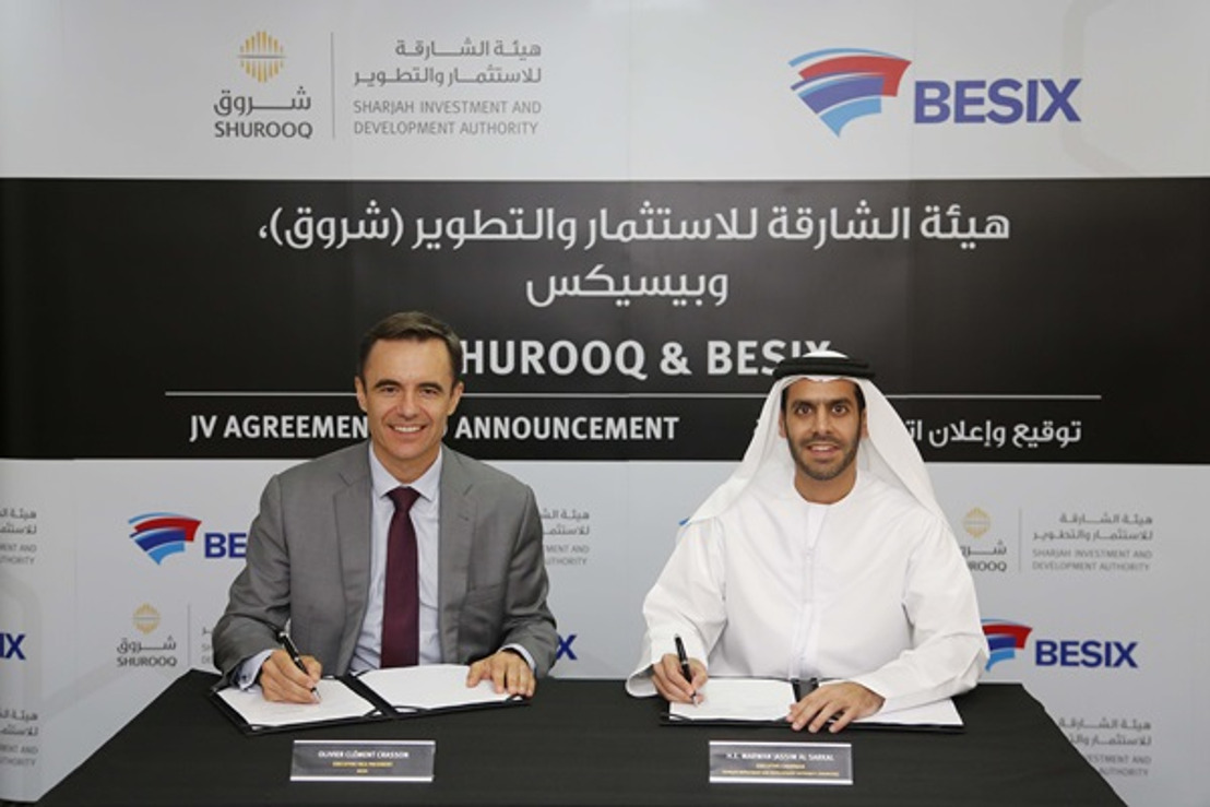 SHUROOQ and BESIX to invest in a sustainable development wastewater project in Sharjah