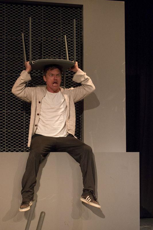 Rob van Vuuren in Dangled - pic CuePix Madeleine Chaput National Arts Festival 2016