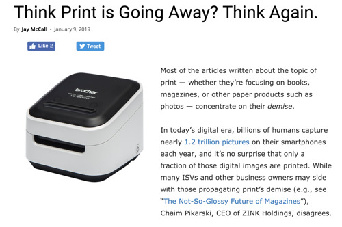 Think Print is Going Away? Think Again.