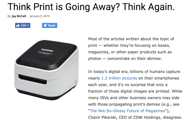 Preview: Think Print is Going Away? Think Again.