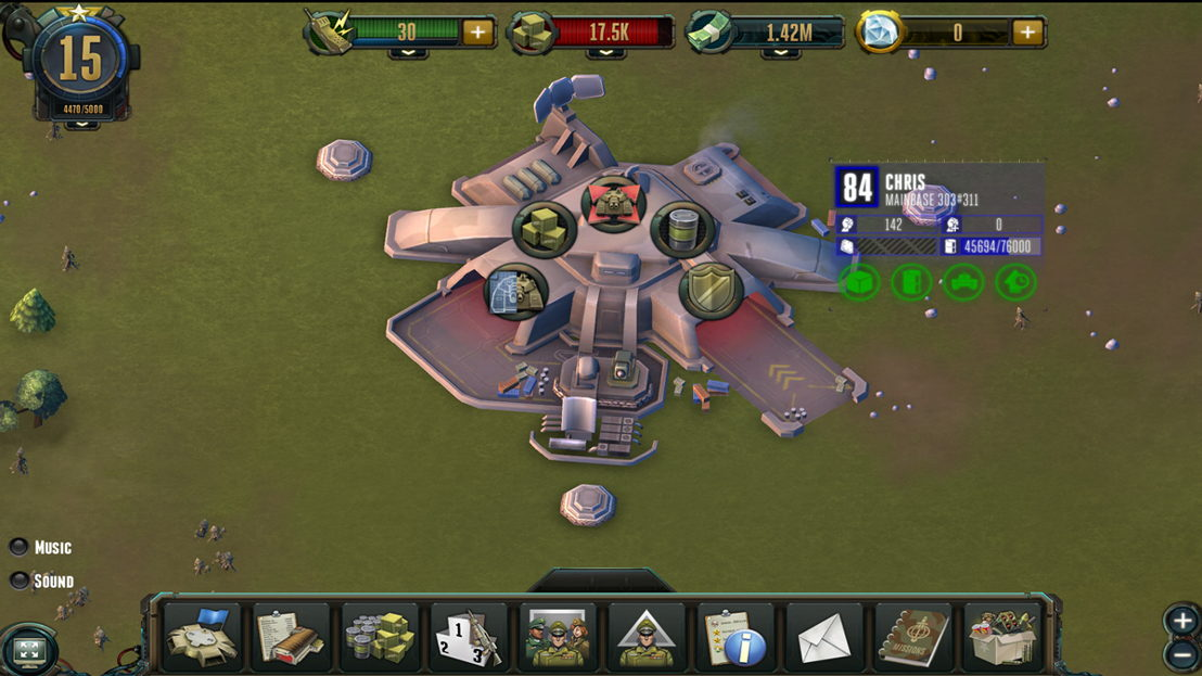 Rising Generals has been developed with Adobe Air