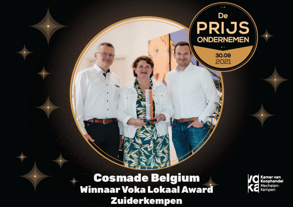 Cosmade is nieuwste kanshebber op Voka Prijs Ondernemen 2021