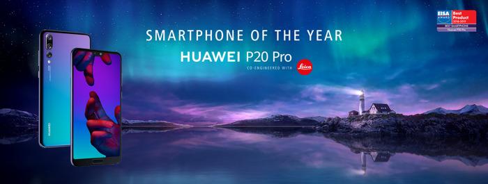 Huawei P20 Pro uitgeroepen tot smartphone van het jaar