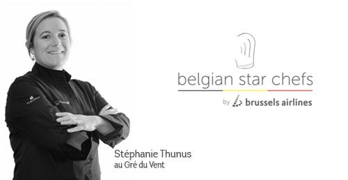 Lady chef Stéphanie Thunus and Brussels Airlines create gastronomic experience at 30,000 feet