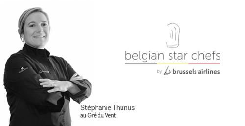 La chef Stéphanie Thunus et Brussels Airlines créent une expérience gastronomique à 30.000 pieds d'altitude