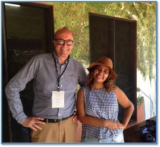 Director of Radio, Michael Mason with new 105.7 ABC Darwin Presenter, Mikaela Simpson