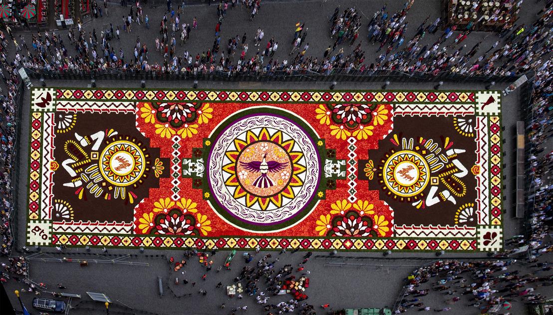 La Grand-Place de Bruxelles déroule son 21e Tapis de Fleurs