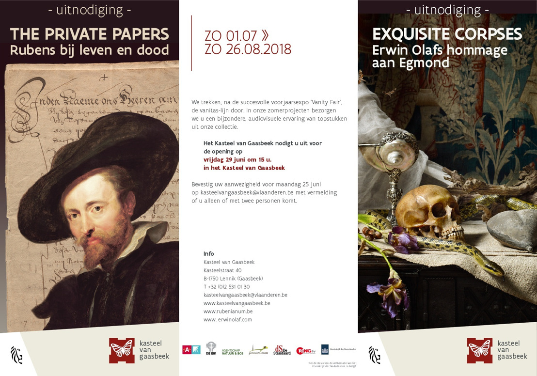 Opening en persbezoek expo's The Private Papers & Exquisite Corpses