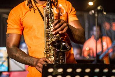 Ekurhuleni Jazz Ensemble. Image credit Megs Kelly, Cue Media