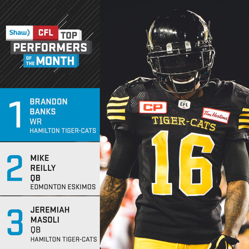 Shaw CFL Top Performers of the Month - October
