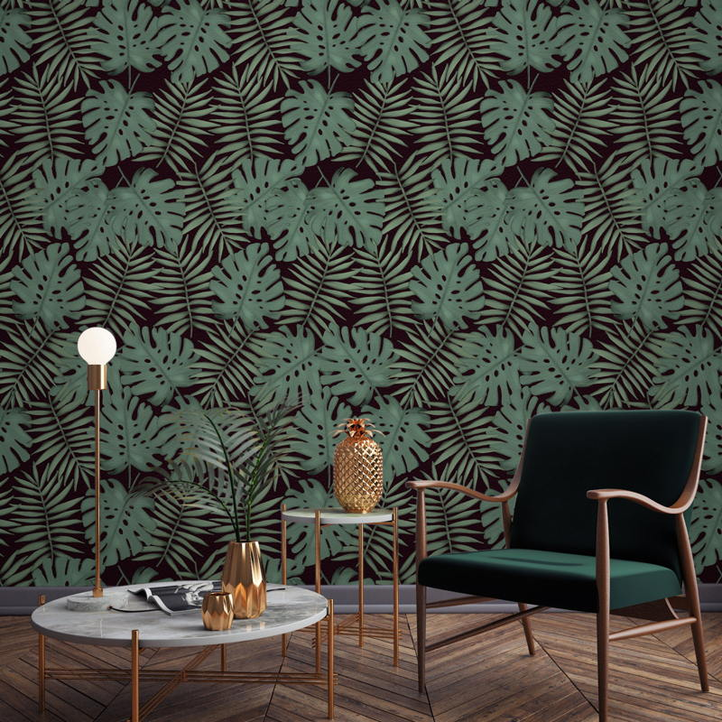 Monstera Leaf Wallpaper Mural