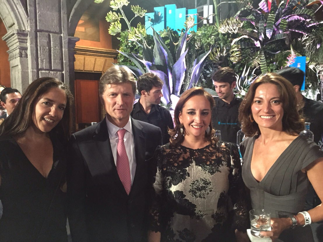 Bertha Gonzalez, Enrique de la Madrid, Claudia Ruiz Massieu y Sandra Chollet