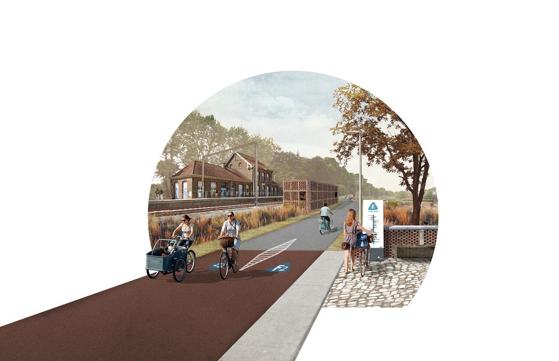 Ontwerp voor fietssnelweg F2 in Dilbeek is klaar