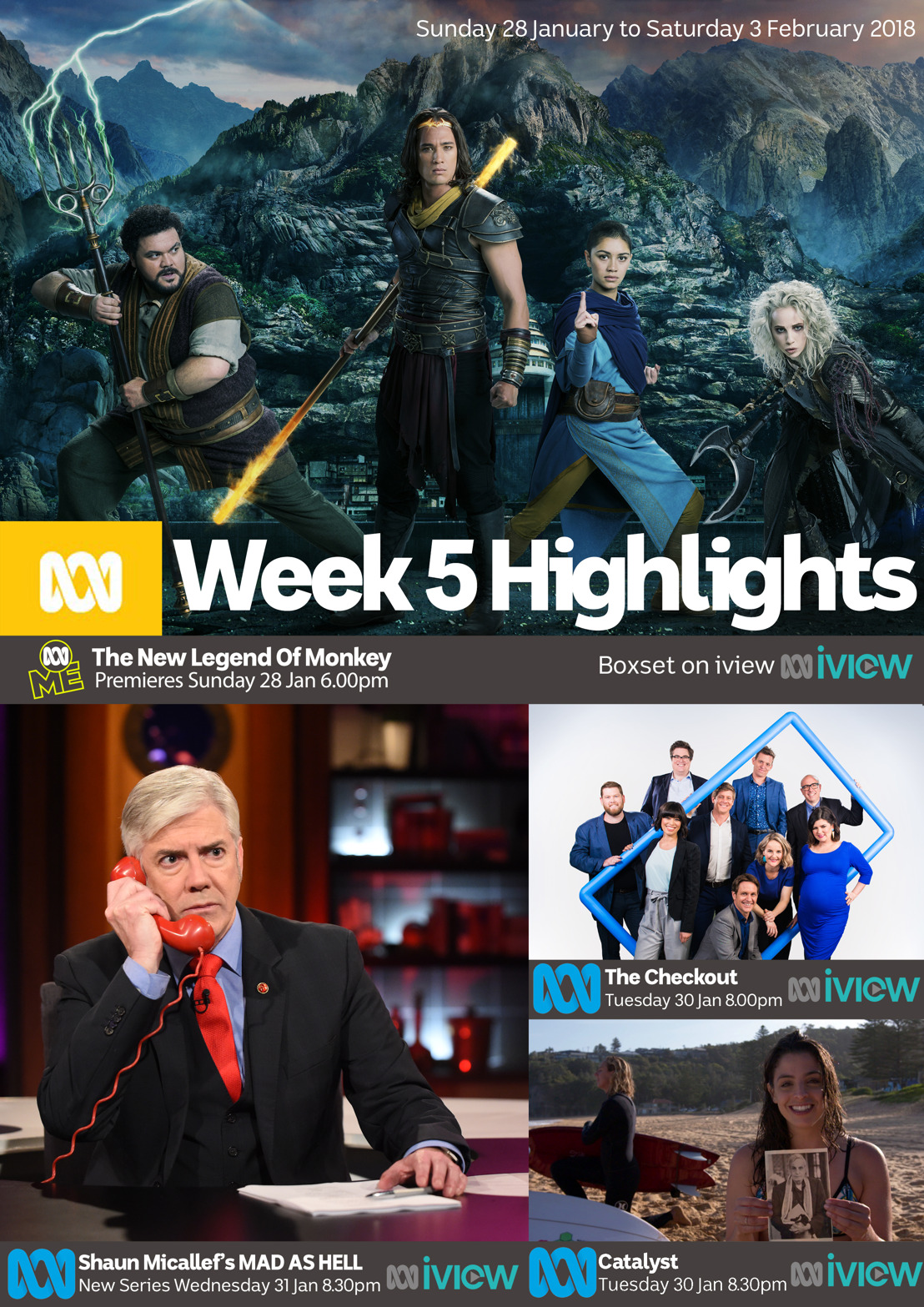 ABC TV Program Highlights - Week 5