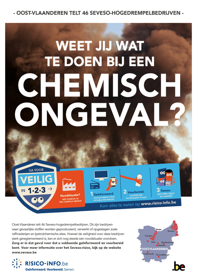 Affiche informatie- en bewustmakingscampagne risicopreventie