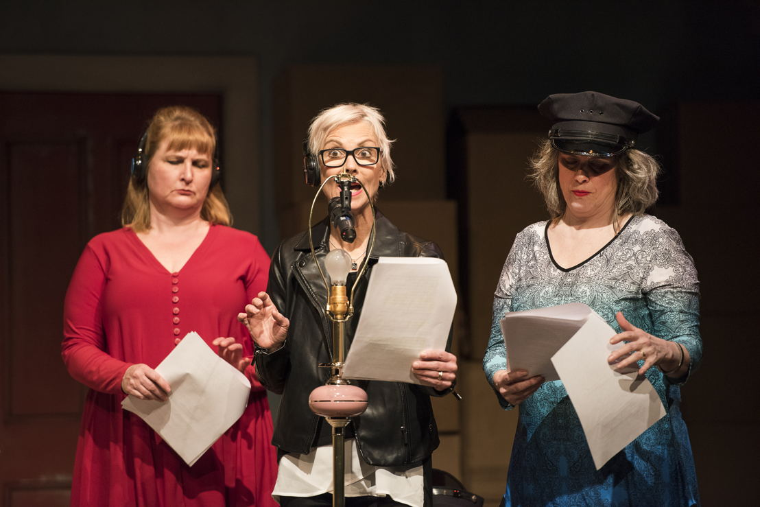 Deborah Williams, Jill Daum, and Alison Kelly in the 2016 production of Mom's the Word: Nest ½ Empty. Set and costume design by Pam Johnson and lighting design by Marsha Sibthorpe. Photo by Emily Cooper