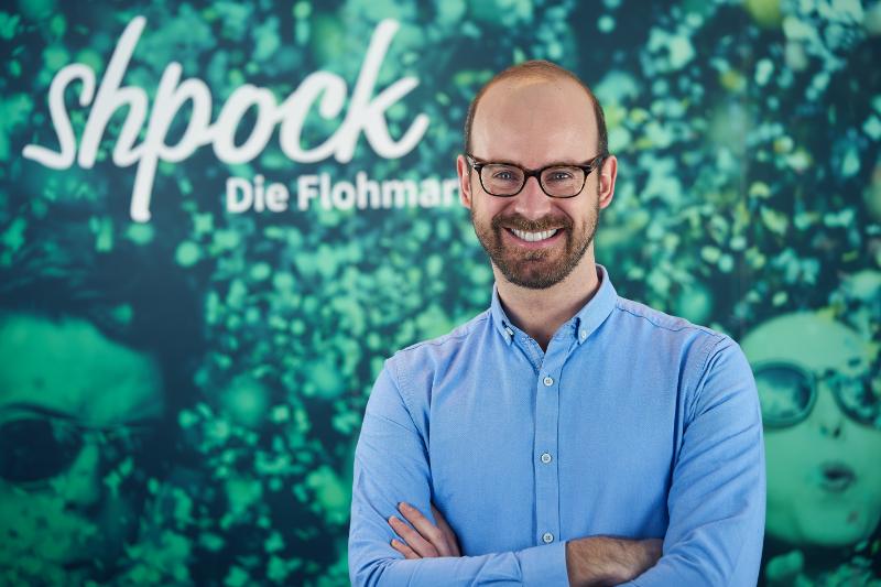 Bernhard Baumann, der neue CEO von Shpock (Bildcredit: Shpock - Abdruck honorarfrei)