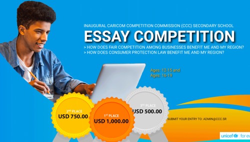 Announcement of Winners: Inaugural CARICOM Competition Commission (CCC) Regional Secondary School Essay Writing Competition 2019-2020