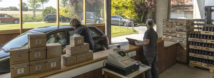 La vente de Trappist Westvleteren dans la pratique