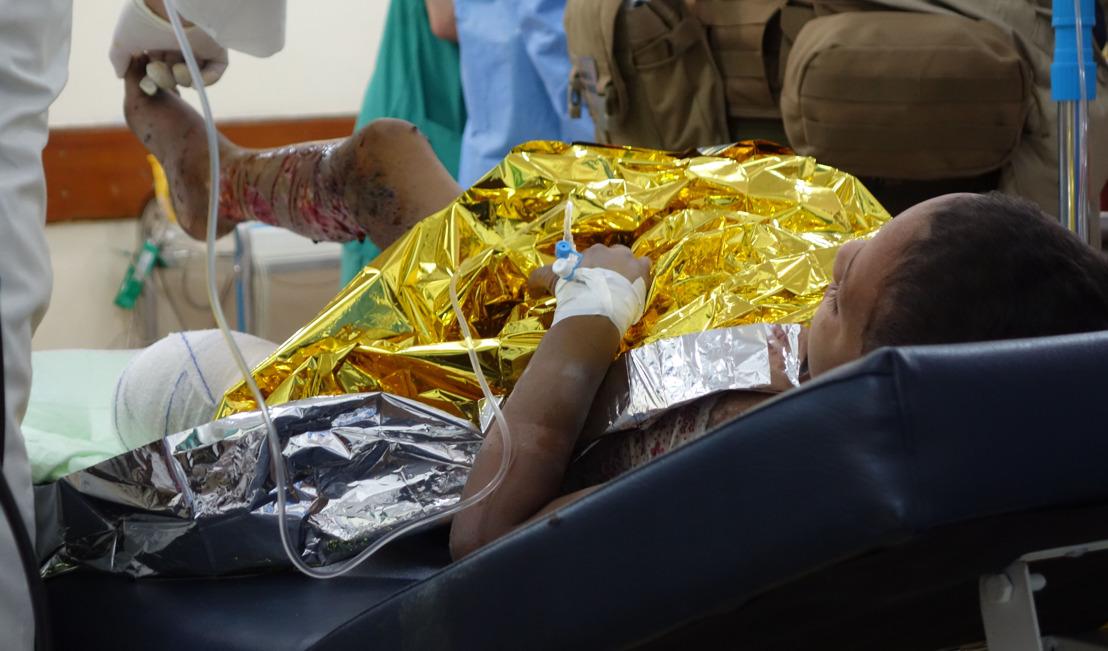 Irak: des dizaines de blessés de guerre, dont des femmes et des enfants, traités dans l'hôpital MSF de Mossoul Ouest
