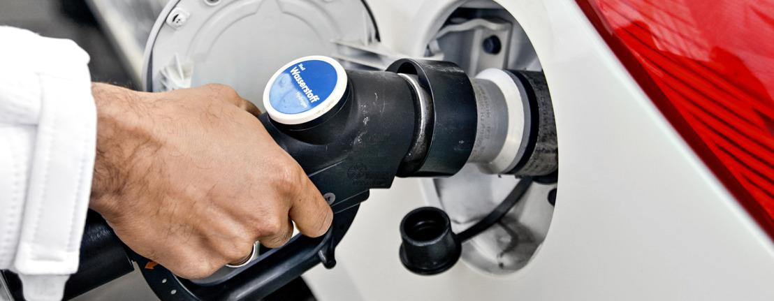 Hyundai an der «Tankstelle der Zukunft» am Autosalon Genf