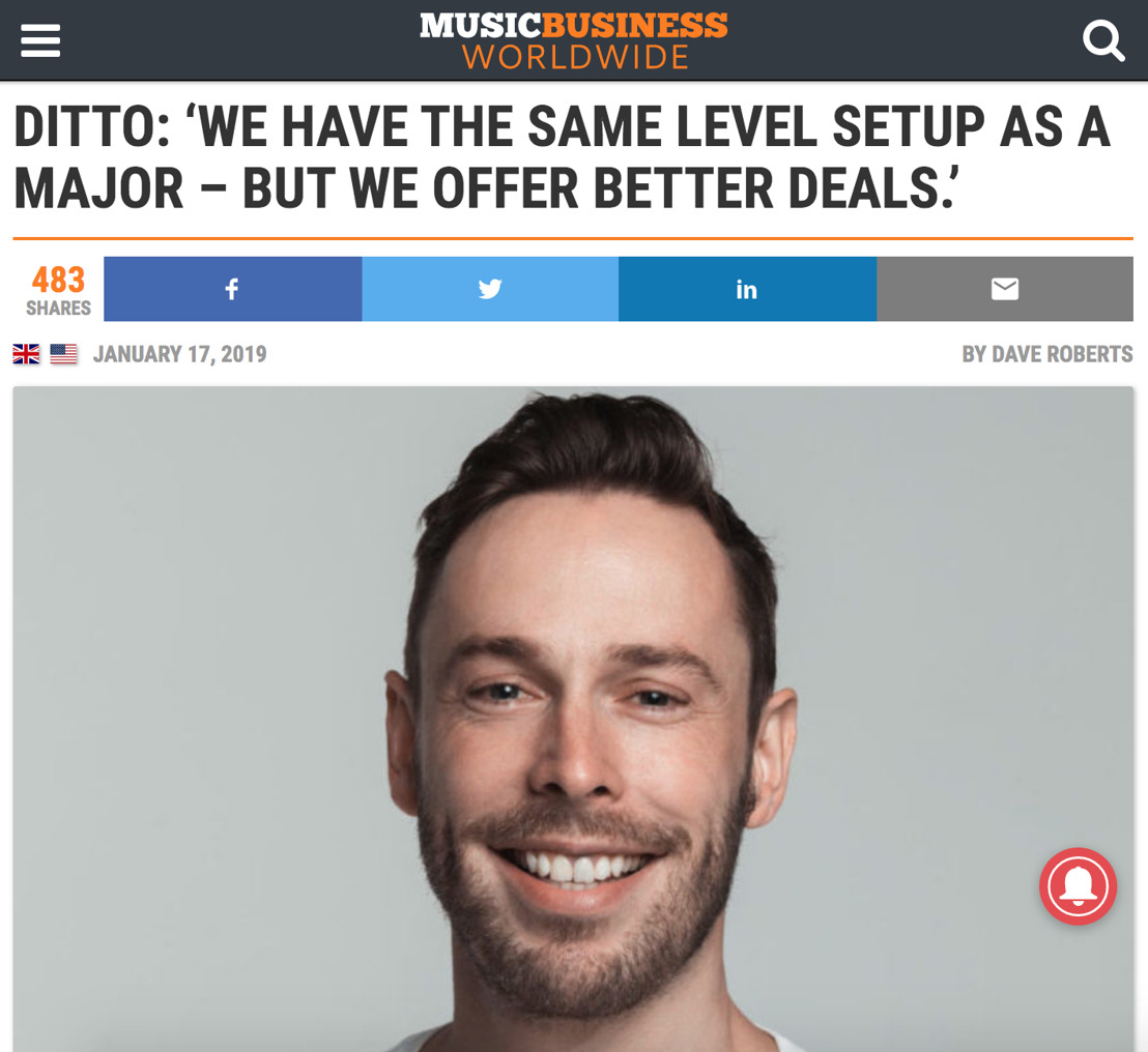 DITTO: 'We Have The Same Level Setup as a Major – But We Offer Better Deals.'